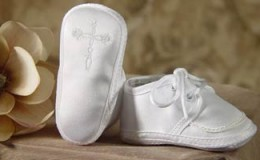 Little Things Mean Alot Christening Booties