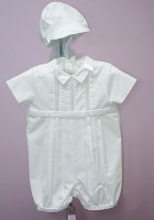 Boy's Christening Romper