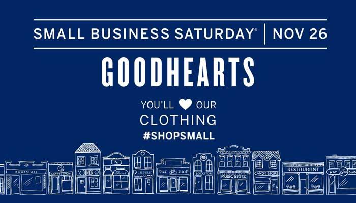 Small Business Saturday Shop at Goodhearts Childrens Shop
