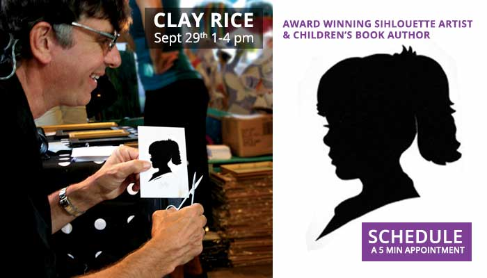 Clay Rice Silhouette Artist at Goodhearts in Reading